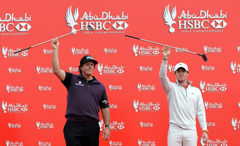Phil Mickelson and Rory McIlroy