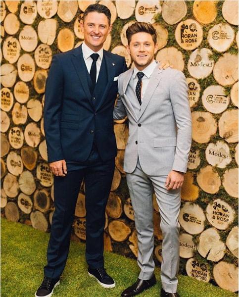 Justin Rose and Niall Horan