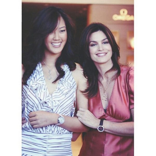 Michelle Wie and Cindy Crawford