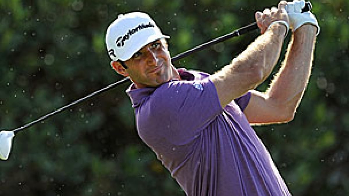 Dustin Johnson in the 2013 Hyundai Tournament of Champions first round