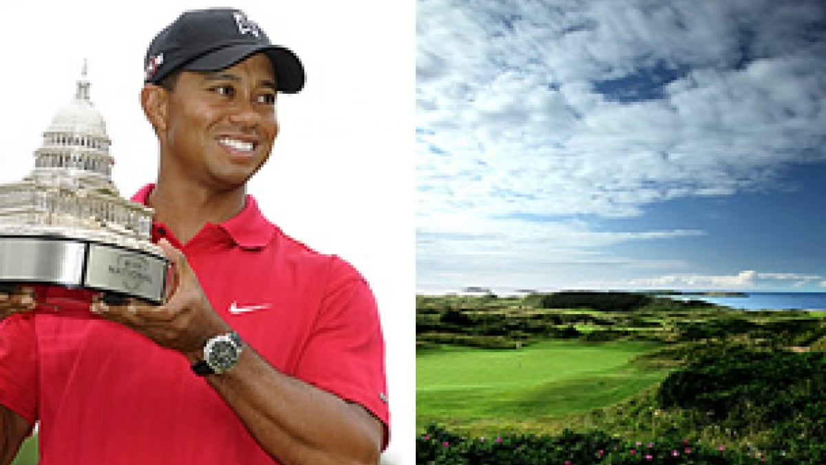 Tiger Woods and Portrush
