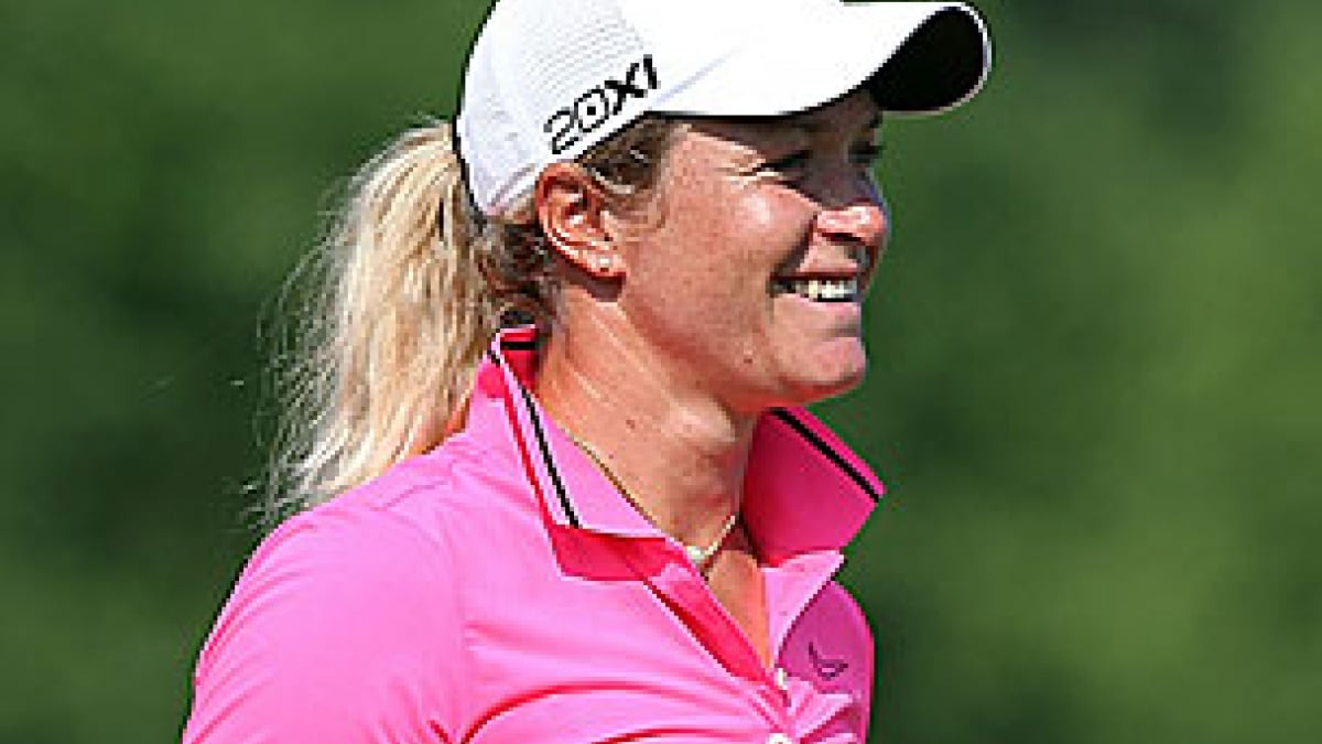 Suzann Pettersen in the 2012 U.S. Women's Open second round