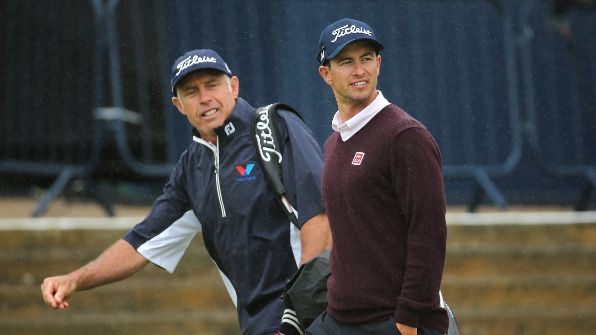 Steve Williams and Adam Scott at the 2015 Open Championship