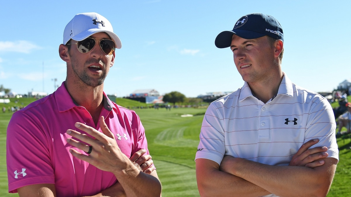 dbe998f3aef7 Jordan Spieth Eager to Learn From Michael Phelps