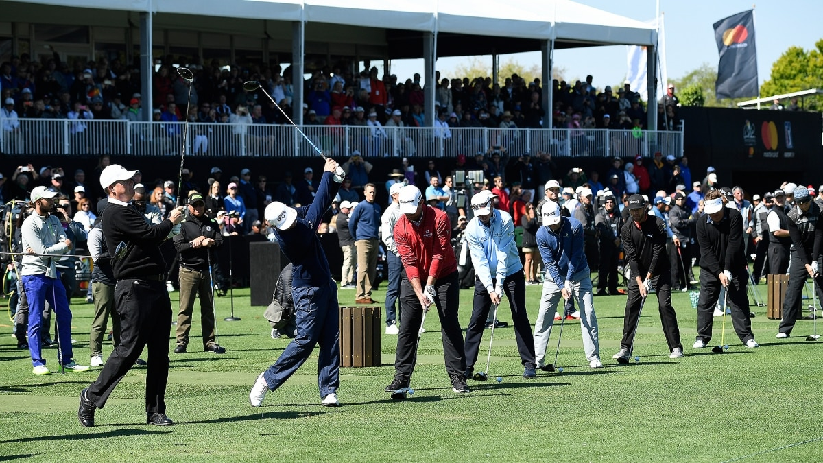 c03a01fa7a5c Watch  Pros hit ceremonial tee shot to honor Arnie