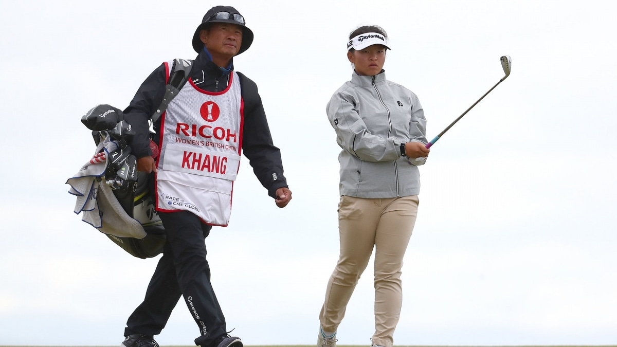 Megan and Lee Khang at the 2017 Women's British Open.