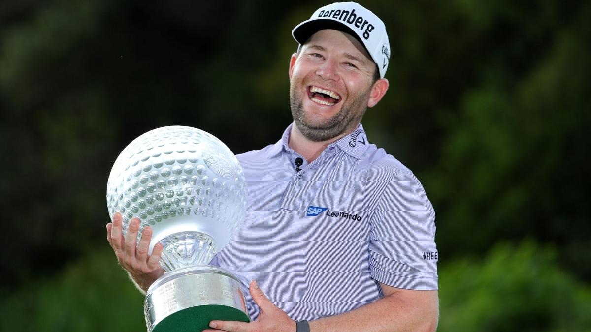 Branden Grace after winning the 2017 Nedbank Golf Challenge in South Africa.