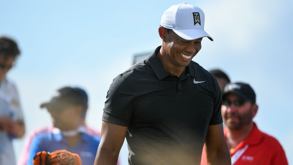 Tiger Woods during Round 1 at the 2017 Hero World Challenge.