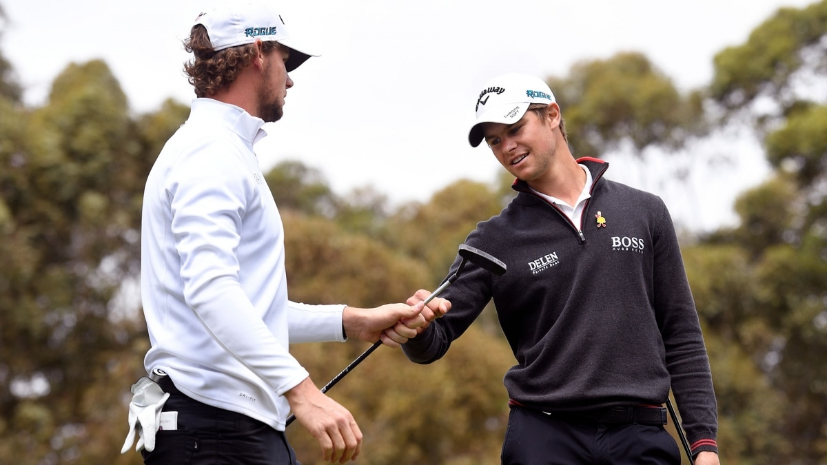 Thomas Pieters and Thomas Detry at the 2018 ISPS Handa World Cup of Golf