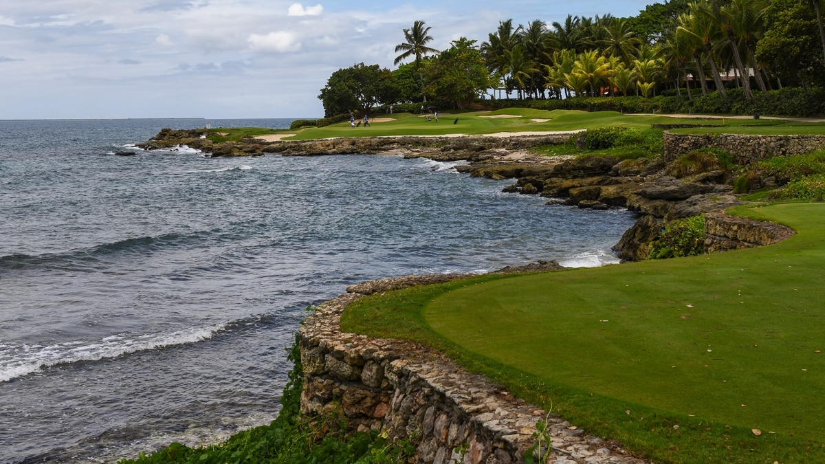 The seventh hole on the Teeth of the Dog course at Casa de Campo.
