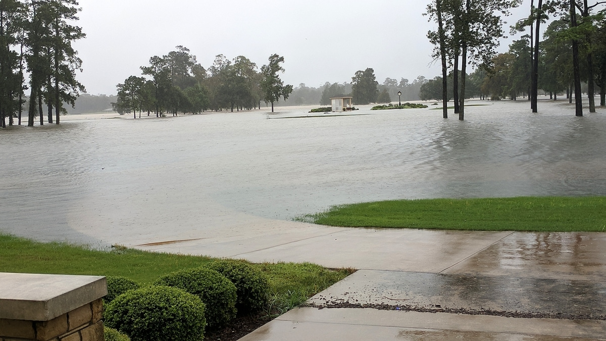 Golf Club of Houston after Hurricane Harvey