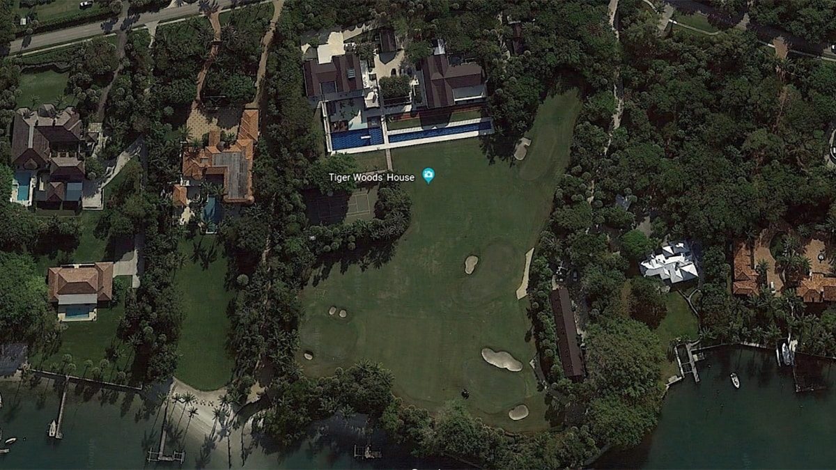 Tiger Woods' home on Jupiter Island, Florida.