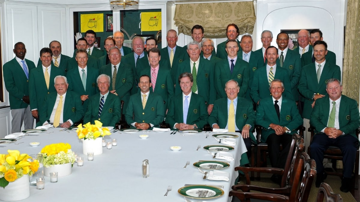 5c17553435caf6 Photo and video of the 2018 Masters Champions Dinner