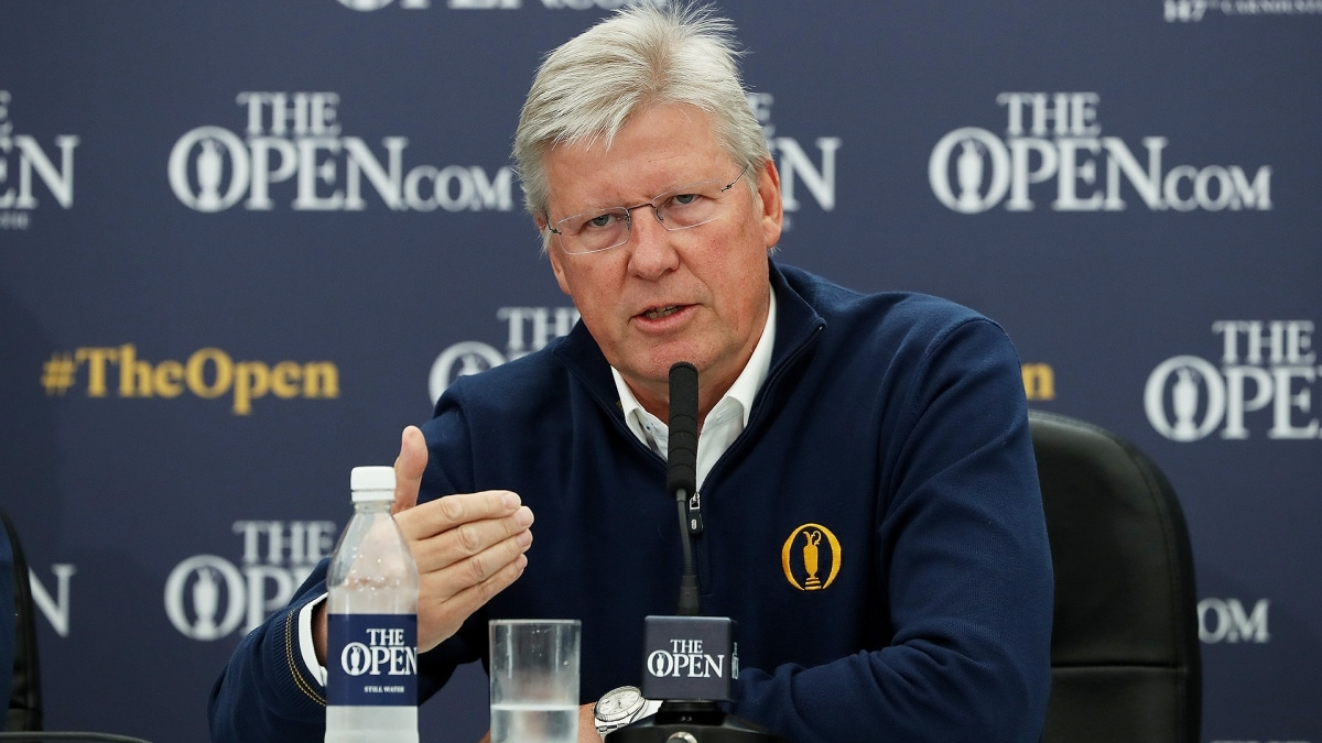 Martin Slumbers at the 2018 Open Championship.