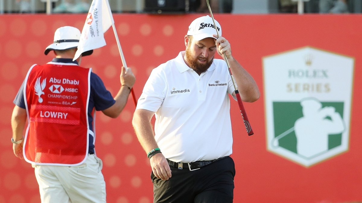 Abu Dhabi HSBC Championship: Shane Lowry moves three shots ahead