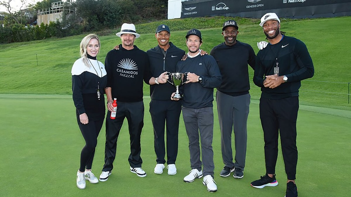 tiger woods u0026 39  team eldrick wins inaugural celebrity cup at