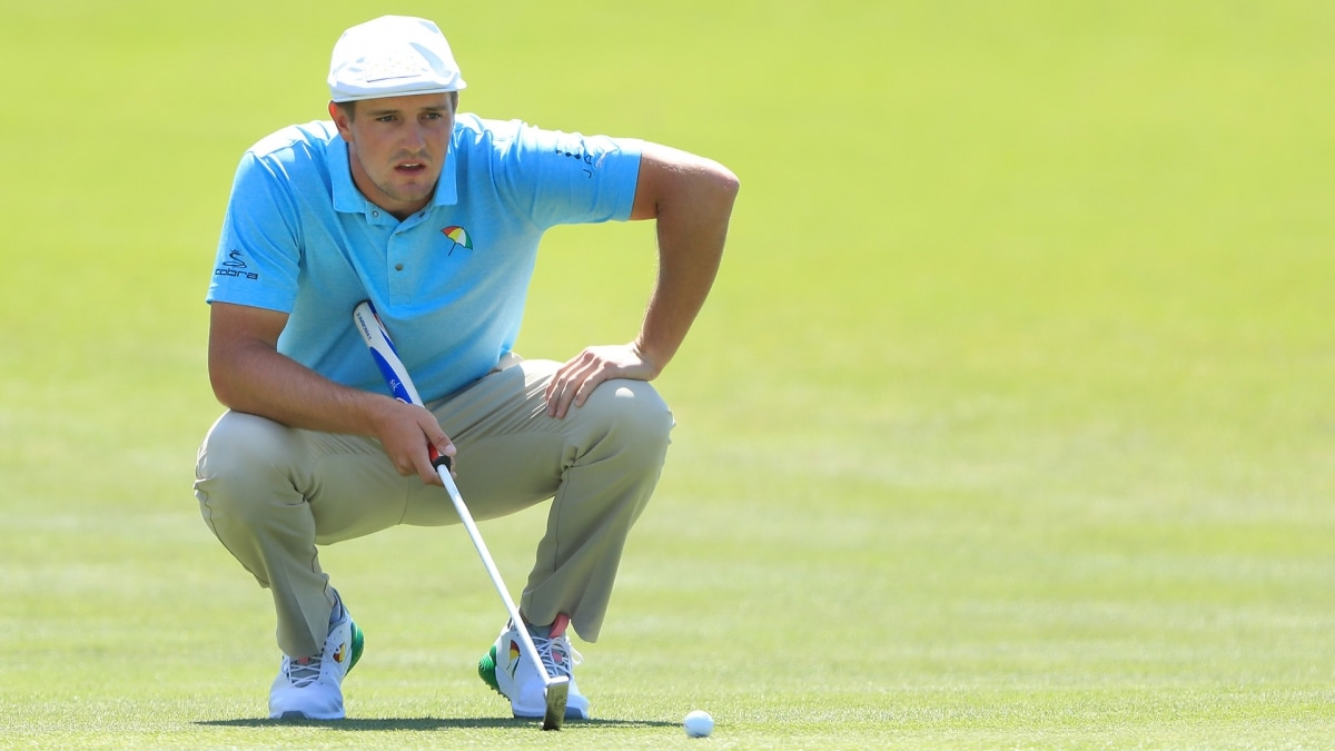 Bryson DeChambeau's Arnie-inspired shirt and shoes