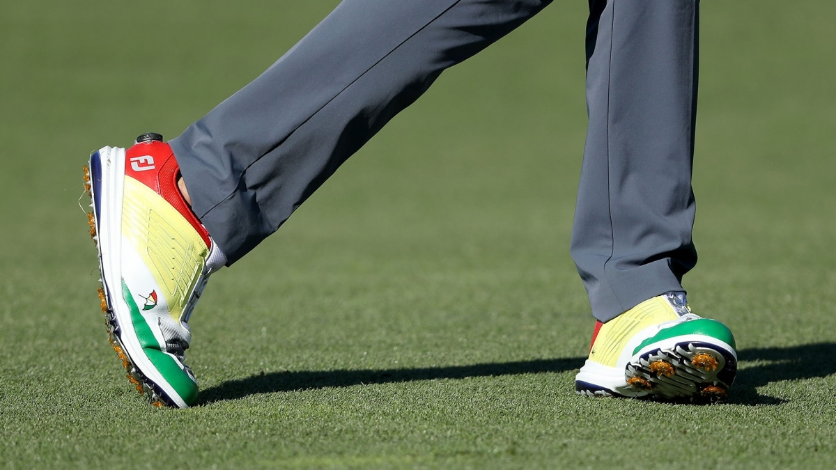 Sam Saunders' Arnie-inspired shoes
