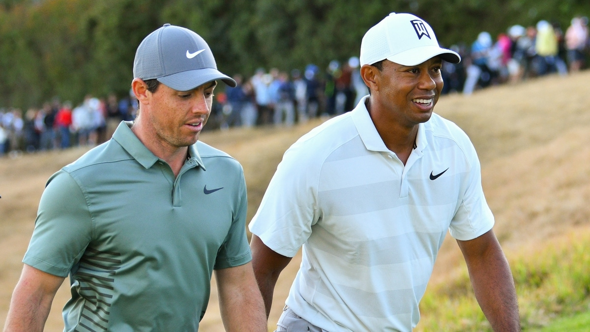 Rory McIlroy and Tiger Woods