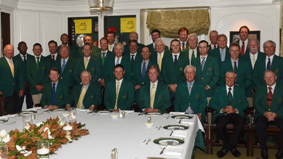 366aac9962368c Photo  Winners gather for Reed s hearty 2019 Masters Champions ...