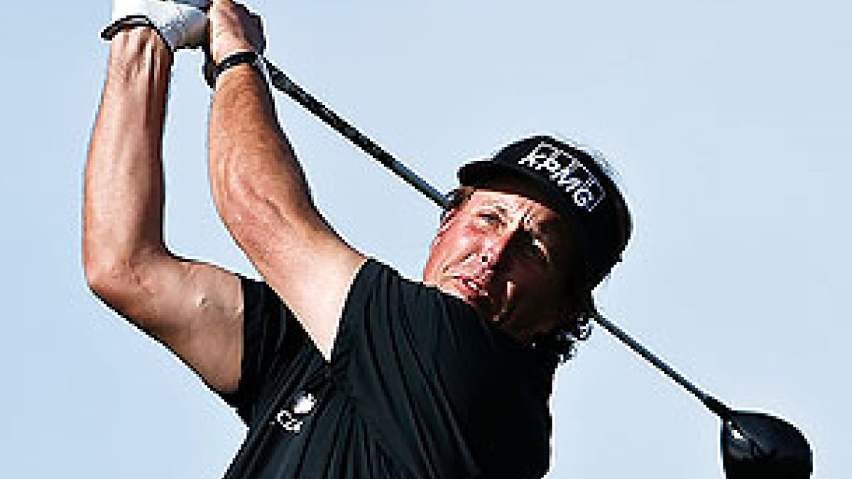 Phil Mickelson in the first round of the 2013 Waste Management Phoenix Open