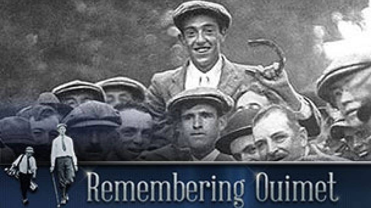 Francis Ouimet after winning the 1913 U.S. Open