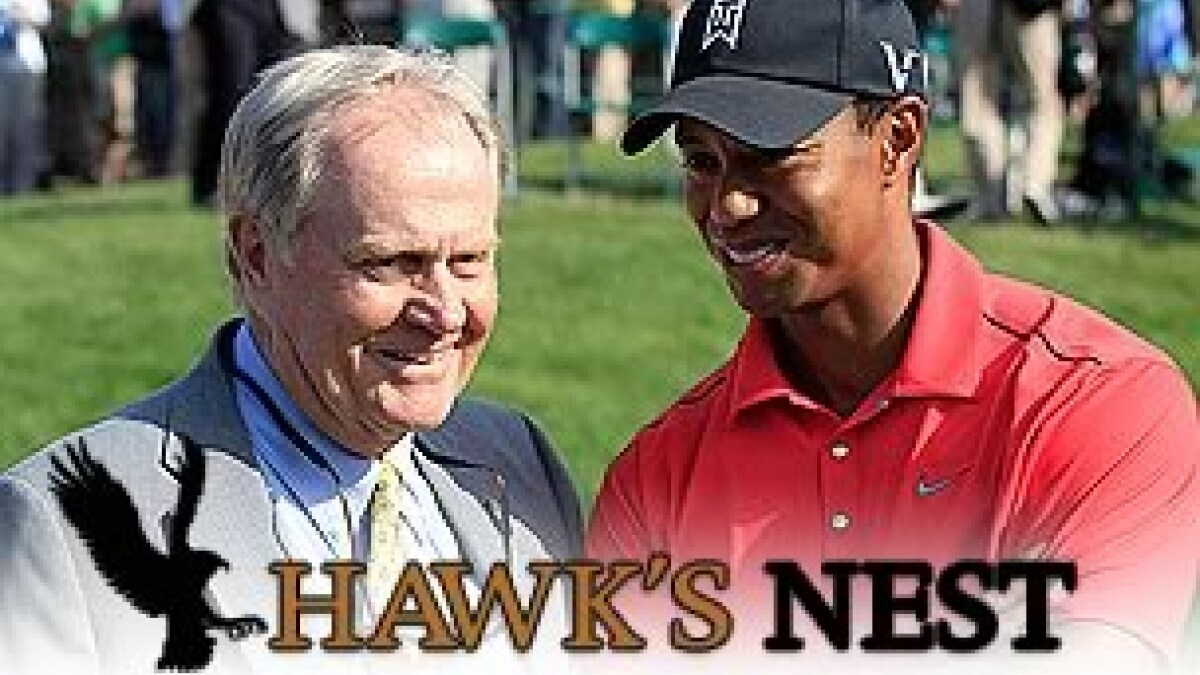 Jack Nicklaus and Tiger Woods
