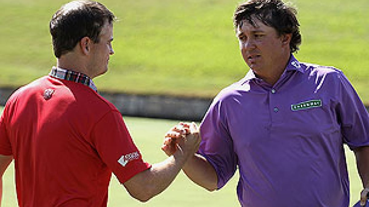 Zach Johnson and Jason Dufner at the 2012 Crowne Plaza Invitational at Colonial
