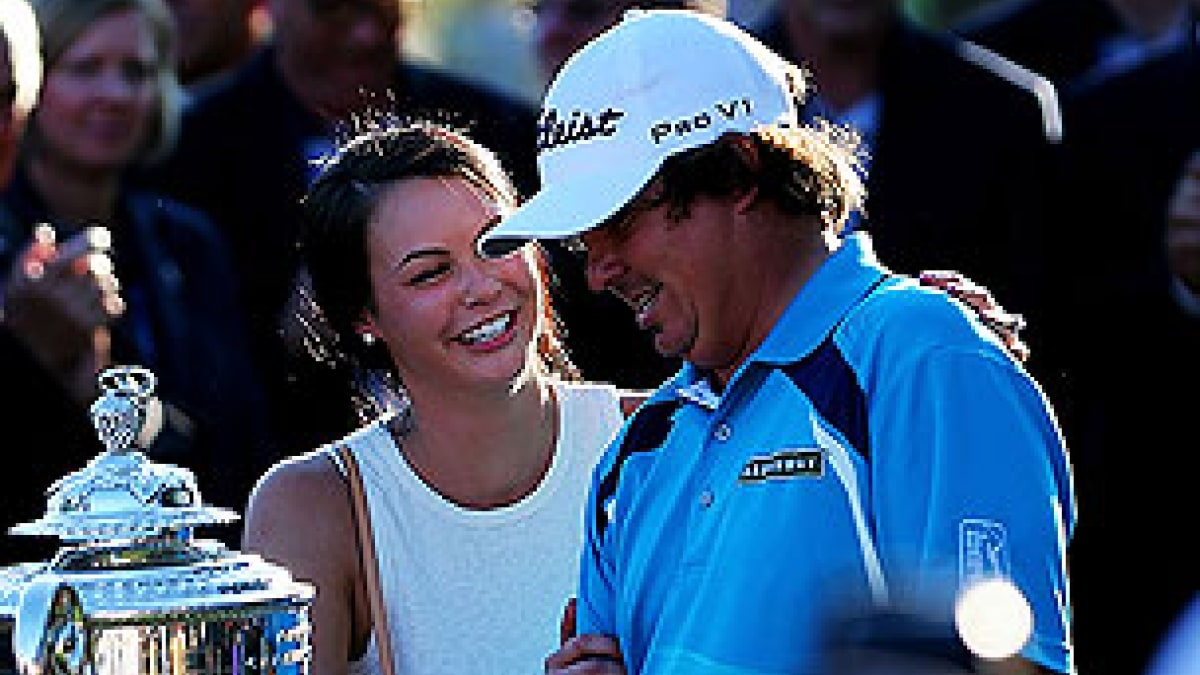 Amanda and Jason Dufner at the 2013 PGA Championship