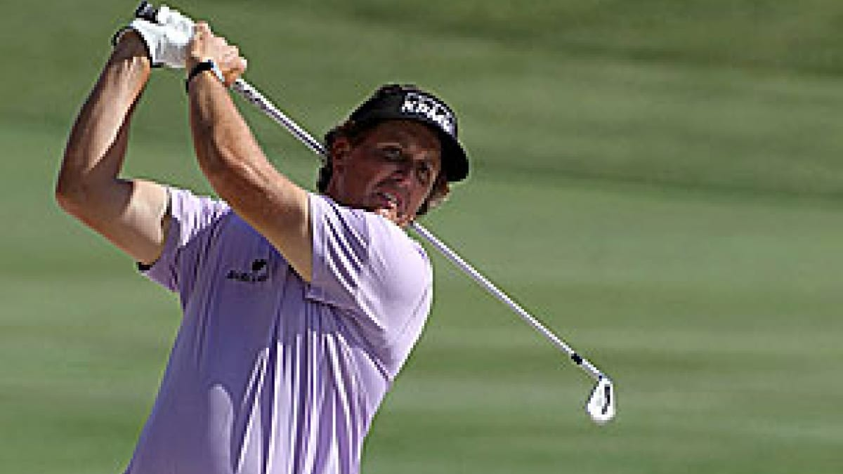 Phil Mickelson in the 2012 Arnold Palmer Invitational first round
