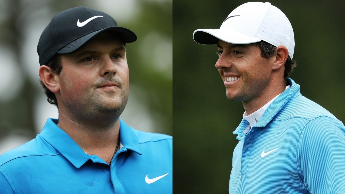 Patrick Reed and Rory McIlroy at the 2018 Masters.
