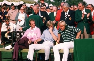 Jack Nicklaus, Johnny Miller and Tom Weiskopf