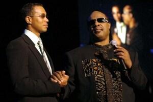 Tiger Woods and Stevie Wonder