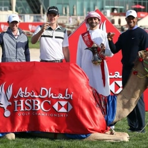 Rory McIlroy, Justin Rose, Tiger Woods