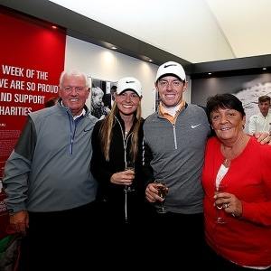 Gerry, Rosie and Rory McIlroy and Erica Stoll