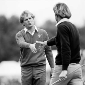 Nick Faldo and Johnny Miller