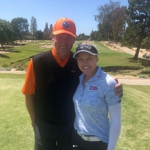 Wayne Gretzky and Brooke Henderson