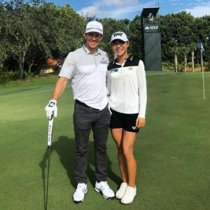 Mark Wahlberg and Lydia Ko