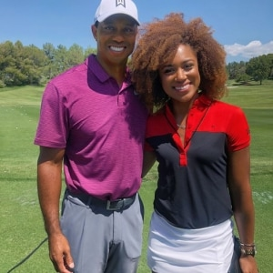 Tiger Woods and Troy Mullins