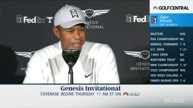 Tiger quips on JT: 'I carried his ass in Australia'