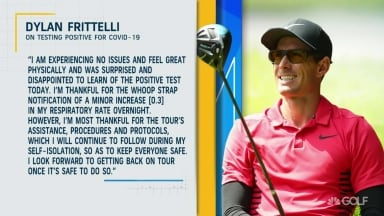 Frittelli tests positive for COVID-19; 'Experiencing no issues and feel great'