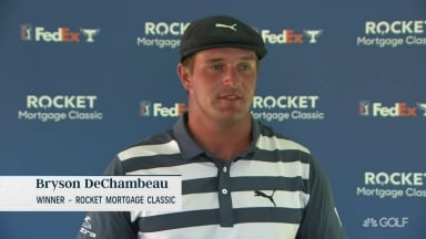 DeChambeau on Rocket Mortgage win: 'It's vindicating'