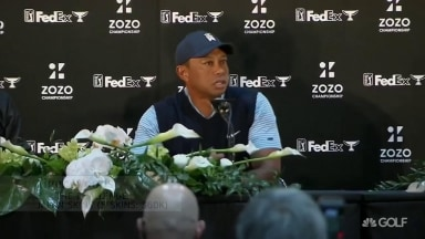 Tiger's knee feeling good: 'Nice to be able to squat down and read putts'
