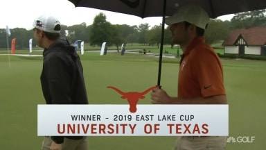 Victorious Vick: Texas freshman sinks putt to claim East Lake Cup