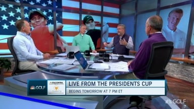 Pressure on heavily favored U.S. Presidents Cup team?