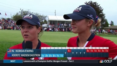 """Korda, Ewing talk about """"embarrassing"""" point to Solheim"""