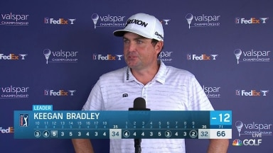 Keegan Bradley co-leads Valspar with Sam Burns after Round 2
