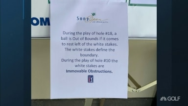 PGA Tour changes boundaries on 18th hole at Sony Open