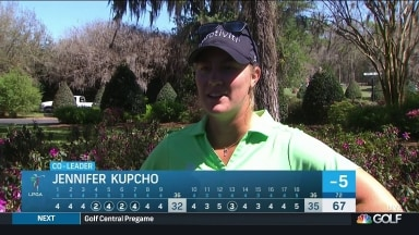 Kupcho plays through pain to share LPGA lead