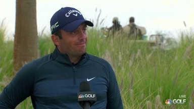 Francesco Molinari reflects on 'solid' second round at AmEx